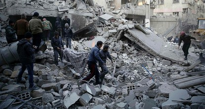 pAt least three civilians were killed and several injured in a missile attack Saturday in a Syrian city that falls within a network of de-escalation zones -- places said to forbid such attacks --...