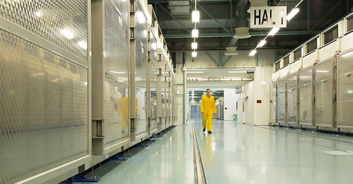 A handout picture released by Iran's Atomic Energy Organization on November 6, 2019, shows the interior of the Fordo (Fordow) Uranium Conversion Facility in Qom, in the north of the country. (AFP Photo)