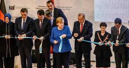 Erdoğan, Merkel open Turkish-German University campus
