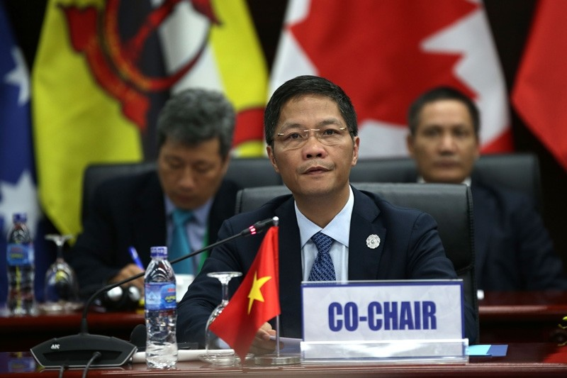 Vietnam's Trade Minister Tran Tuan Anh (C) chairs the Trans Pacific Partnership (TPP) Ministerial Meeting ahead of the Asia-Pacific Economic Cooperation (APEC) leaders summet in the central Vietnamese city of Danang ( AFP Photo)