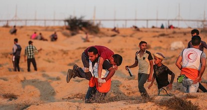 غزة: إصابة 75 مواطنا و7 مسعفين وصحفي برصاص الجيش الإسرائيلي