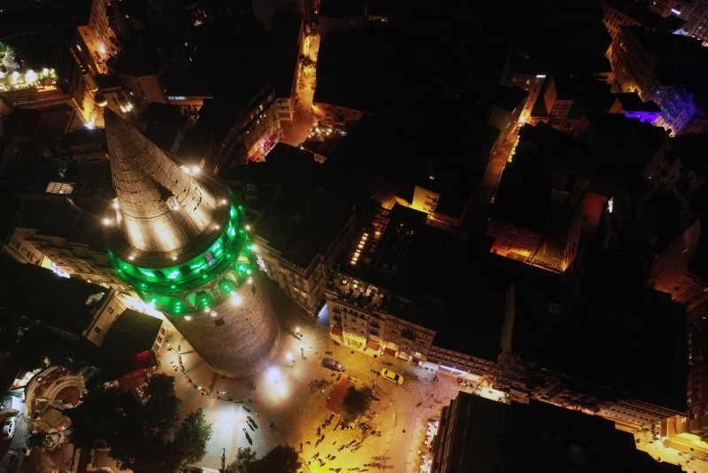 Istanbul landmarks lit up in green to raise awareness about cerebral palsy