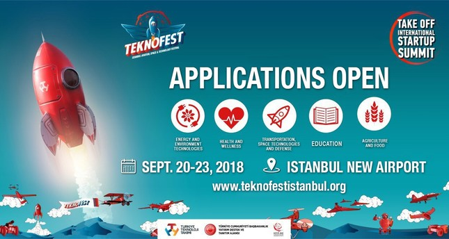 Applications for TEKNOFEST Istanbul's Take Off startup summit begin