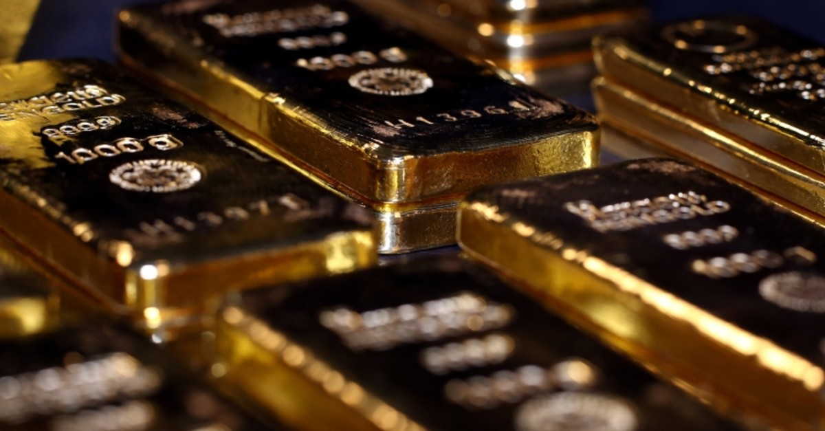 Gold bars stacked in the safe deposit boxes room of the Pro Aurum gold house in Munich, Germany,  August 14, 2019. (Reuters Photo)