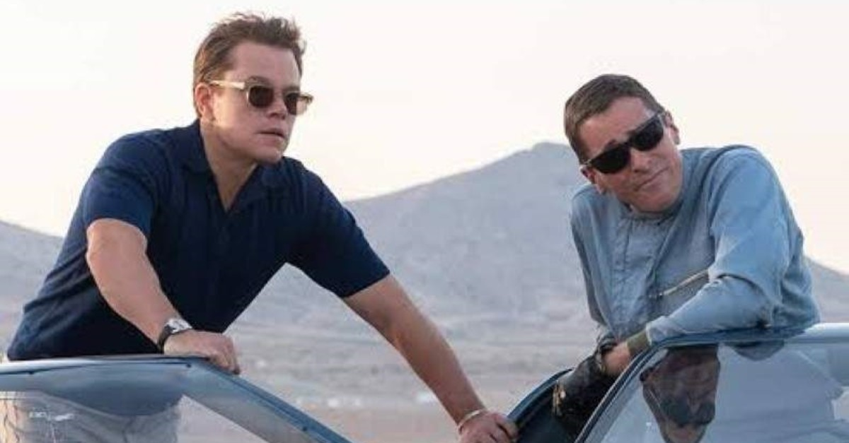 Matt Damon as Carrol Shelby and Christian Bale as Ken Miles in the movie.