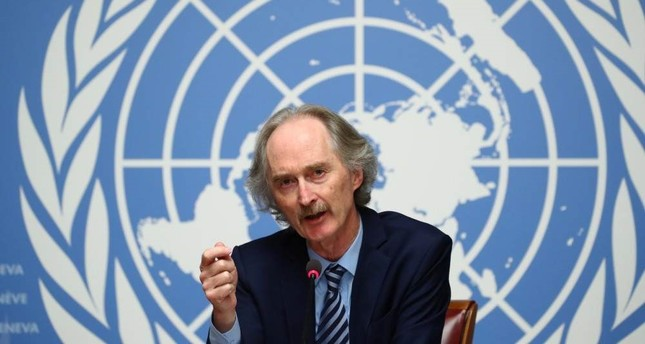 U.N. Special Envoy for Syria Geir Pedersen attends a news conference ahead of the meeting of the new Syrian Constitutional Committee at the United Nations in Geneva, Switzerland, Oct. 28, 2019. (REUTERS)