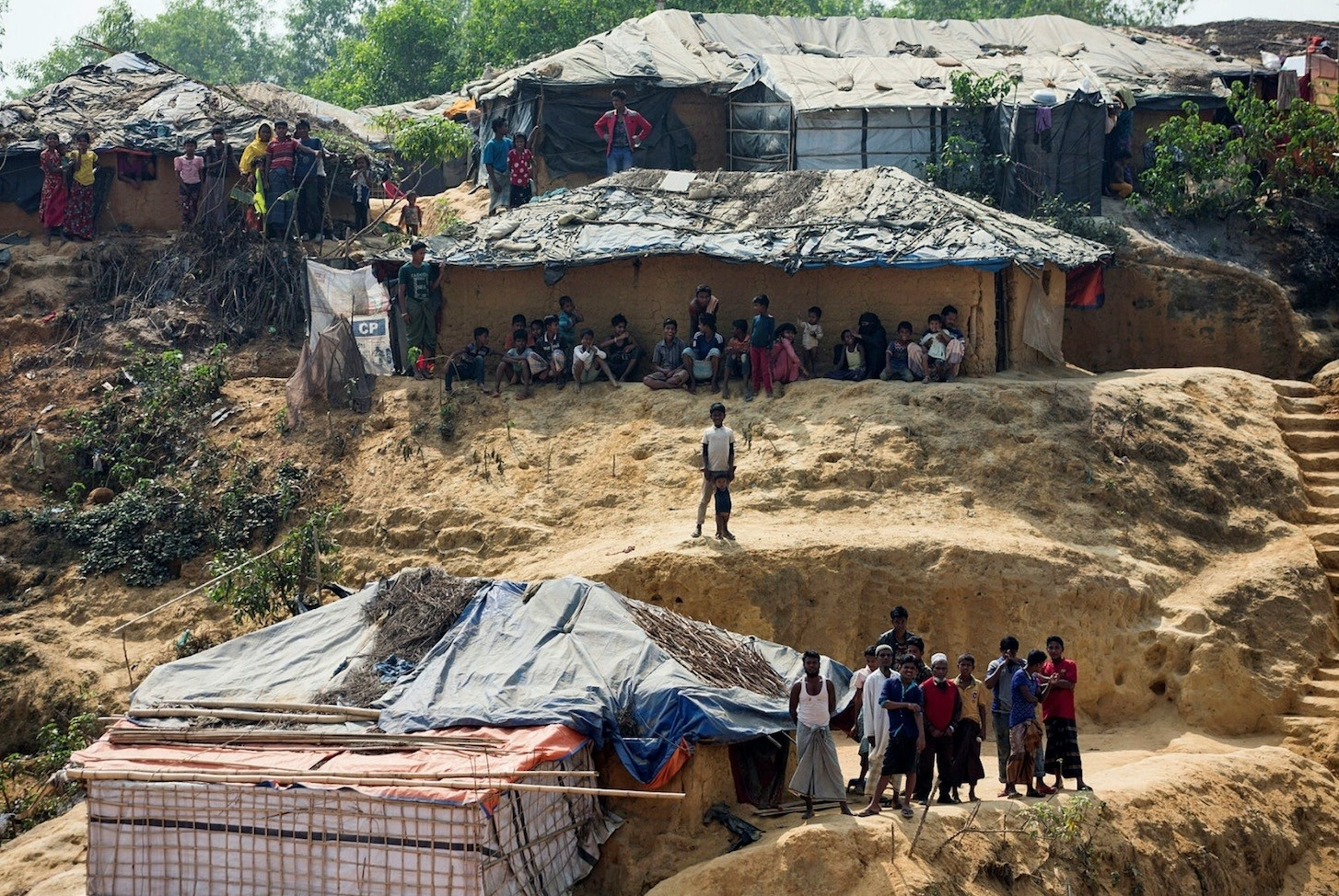 Rohingya refugees in the Kutupalong Rohingya refugee camp, Coxu2019s Bazar, Bangladesh, Feb. 6.