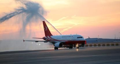 الطائرة الرئاسية.. أول طائرة تهبط في مطار إسطنبول الثالث الجديد
