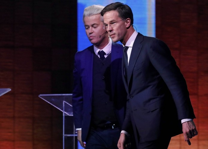 Wilders (L) and Rutte (Reuters Photo)