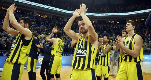fedf61d86 Fenerbahçe Beko players celebrate their Euroleague victory against Maccabi  FOX Tel Aviv at Ülker Arena