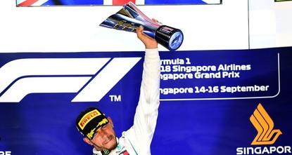 Hamilton pushing toward 5th F1 title after imperious drive