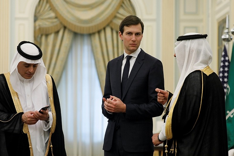 White House senior advisor Jared Kushner attends events with U.S. President Donald Trump at the Royal Court in Riyadh, Saudi Arabia May 20, 2017. (Reuters Photo)