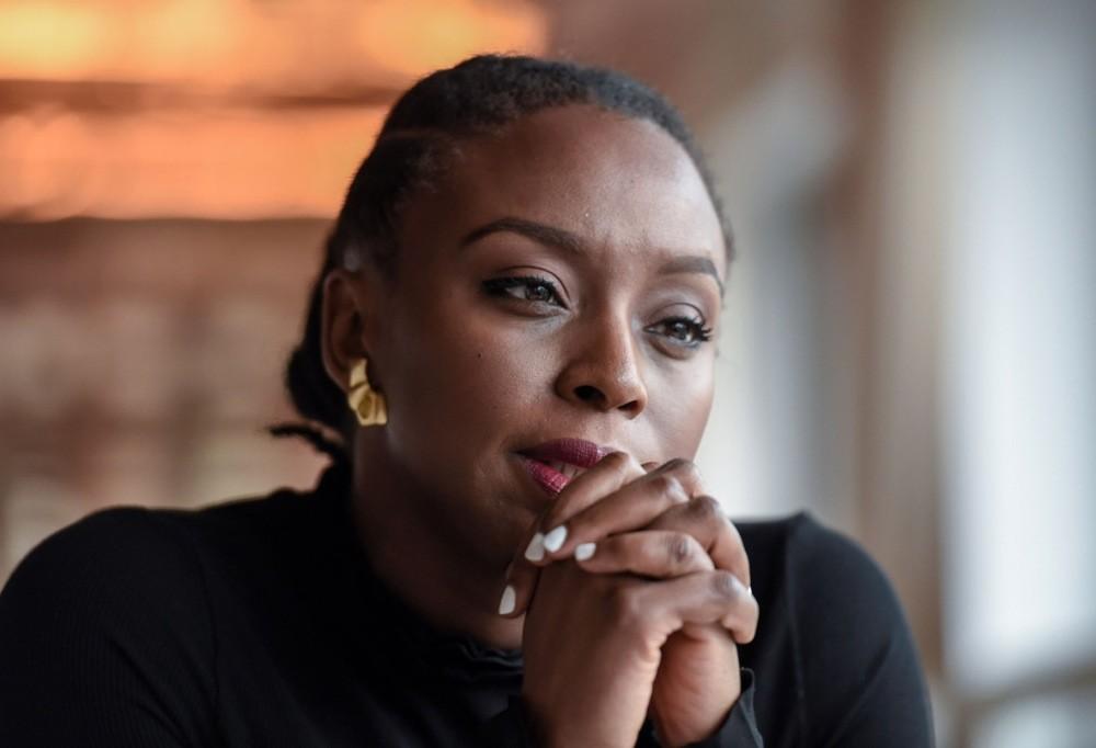 Nigerian author Chimamanda Ngozi Adichie poses during a photo session. (AFP Photo)