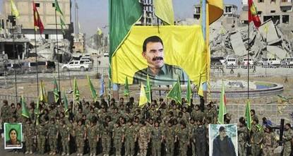 """pAnkara kritisierte die anhaltende Unterstützung der USA für die """"Demokratischen Kräfte Syriens (SDF), die hauptsächlich von den syrischen PKK-Ablegern PYD/YPD angeführt wird, aufs..."""