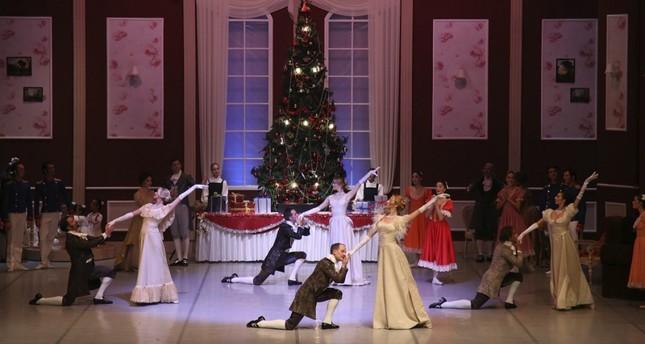 A scene from the Nutcracker ballet.
