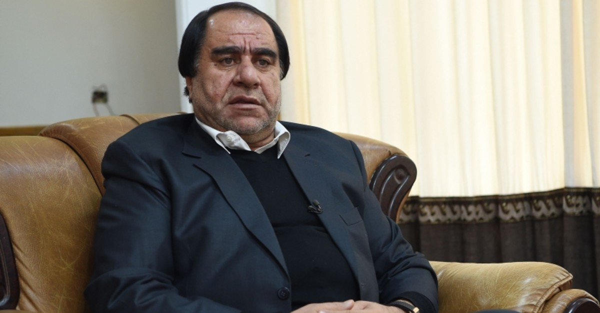 In this file photo taken on December 31, 2018 Afghan football boss Keramuddin Karim looks on as he speaks during an interview with AFP in Kabul. (AFP Photo)