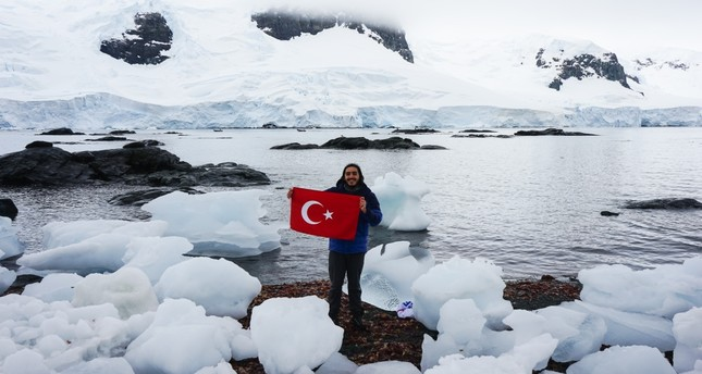 Barkın Özdemir traveled to Antarctica thanks to crowd funding.