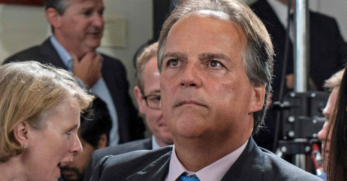In this file photo taken on June 10, 2019 Conservative MP Mark Field attends the launch of Britain's Foreign Secretary Jeremy Hunt's Conversative party leadership campaign in London on June 10, 2019. (AFP Photo)