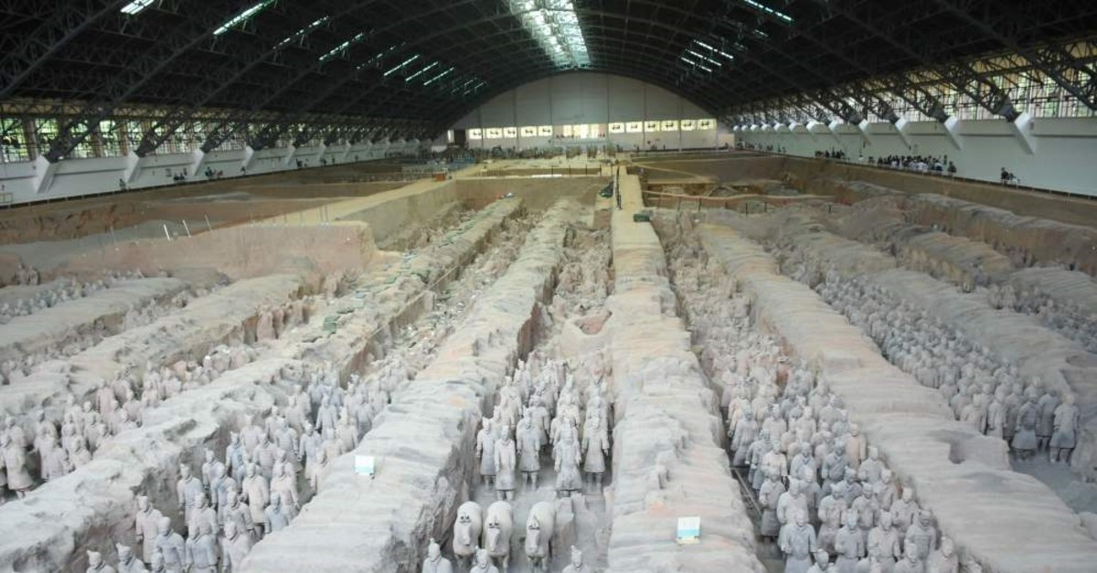 The sculptures of the Terracotta Army at the Terracotta Warrior Museum in Xi'an, China, May 27, 2019.
