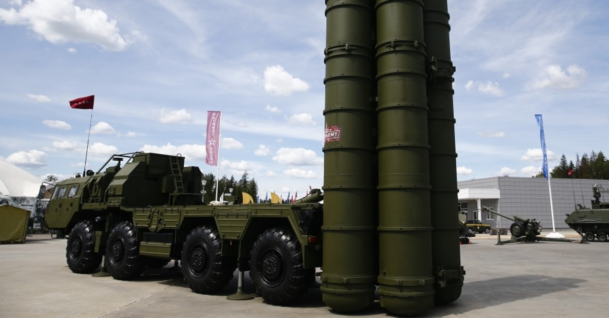 Russia's S-400 surface-to-air missile (SAM) system on display at the International Military-Technical Forum Army, Moscow, June 25, 2019.