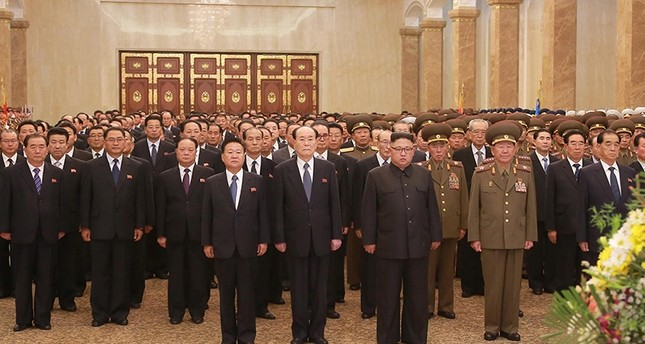 North Korean leader Kim Jong Un visits the Kumsusan Palace of the Sun during the Second Plenum of the 7th Central Committee of the Workers' Party of Korea (WPK) (Reuters Photo)