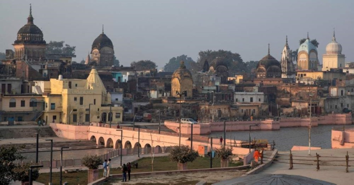 A general view of Ayodhya is seen after Supreme Court's verdict on a disputed religious site, India, Nov. 10, 2019. (Reuters Photo)