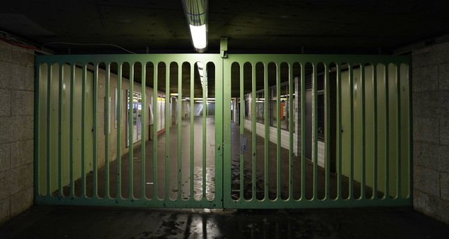 View of an entrance of the underground station 'Insbrucker Platz' after an unexploded bomb from the WW2 was found, in Berlin, Germany, 02 October 2017. (EPA Photo)