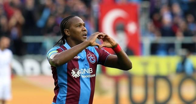 Trabzonspor's Hugo Rodallega.
