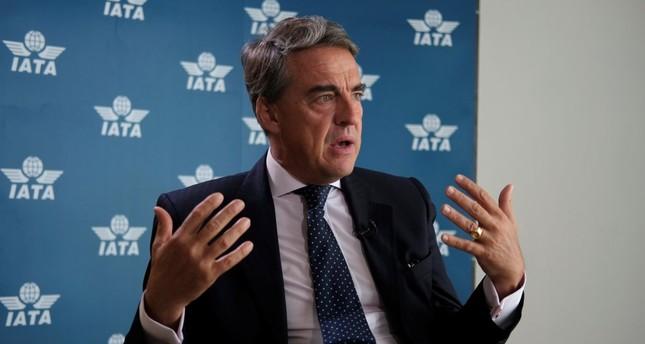 Alexandre de Juniac, director of the International Air Transport Association (IATA), talks to the press ahead of the June 4-6 meeting of the IATA in Cancun.