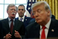 Trump tied Ukraine aid to Biden investigation, Bolton's book says