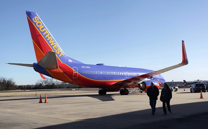 In this Jan. 13, 2014 file photo, Southwest Airlines Flight 4013 sits at the M. Graham Clark Downtown Airport in Hollister, Mo. (AP Photo)