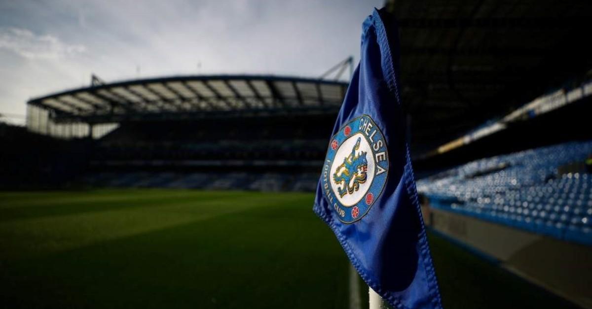 General view of a Chelsea corner flag inside the stadium, London, Nov. 9, 2019. (Reuters Photo)