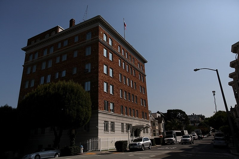 A view of the Russian consulate on August 31, 2017 in San Francisco, California. (AFP Photo)