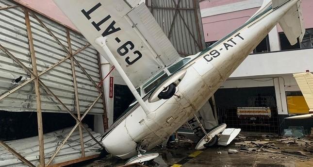 صزرة تظهر حجم الدمار الذي لحق بمطار بيرا في موزمبيق جراء الإعصار الذي ضرب البلاد  وكالة الأنباء الفرنسية