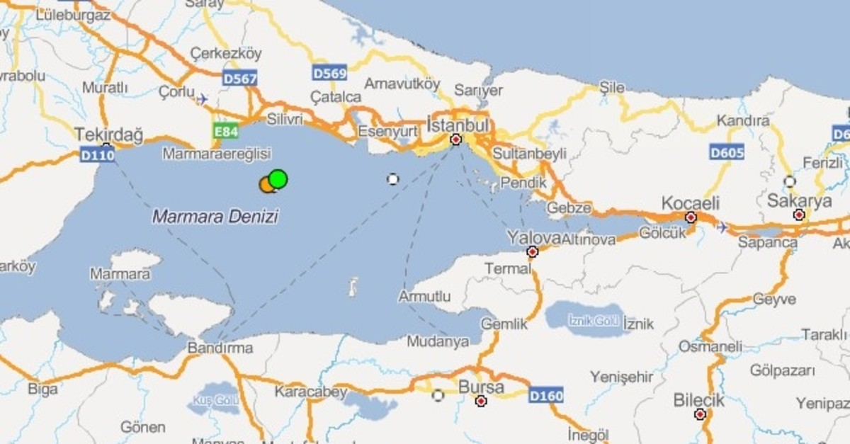 AFAD earthquake map