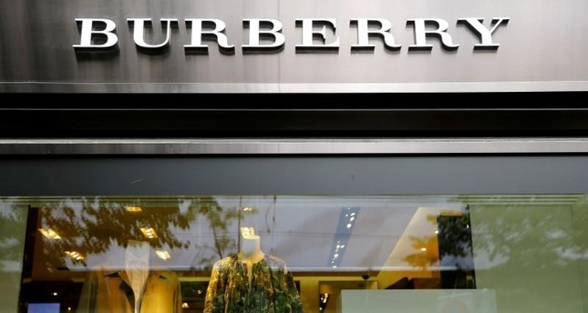 The logo of British luxury brand Burberry is seen at a shop at the Bahnhofstrasse in Zurich, Switzerland July 12, 2017. (Reuters Photo)