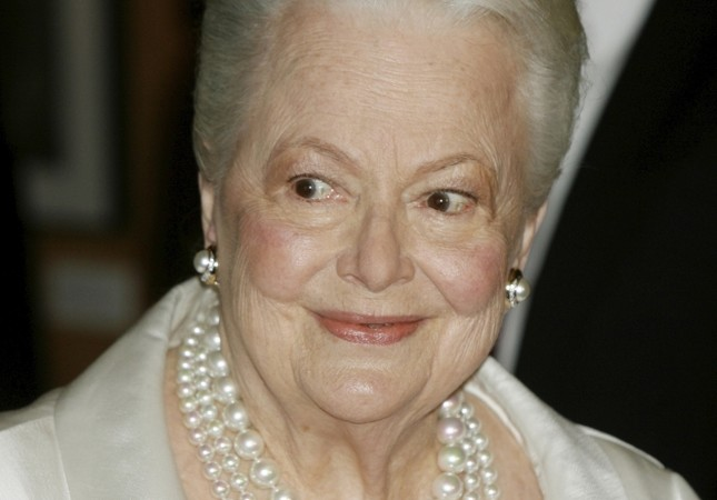 Two-time Academy Award winner Actress Olivia de Havilland, 89, at the 'Academy Tribute to Olivia de Havilland' at the Academy of Motion Picture Arts & Sciences, Beverly Hills, June 15, 2006.