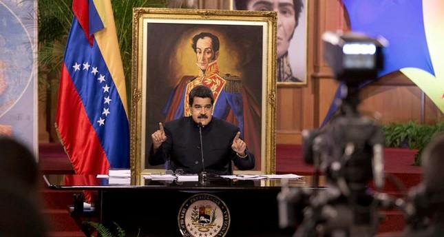Venezuela's President Nicolas Maduro speaks at a news conference in Caracas, Venezuela, Tuesday, Aug. 22, 2017. (AP Photo)
