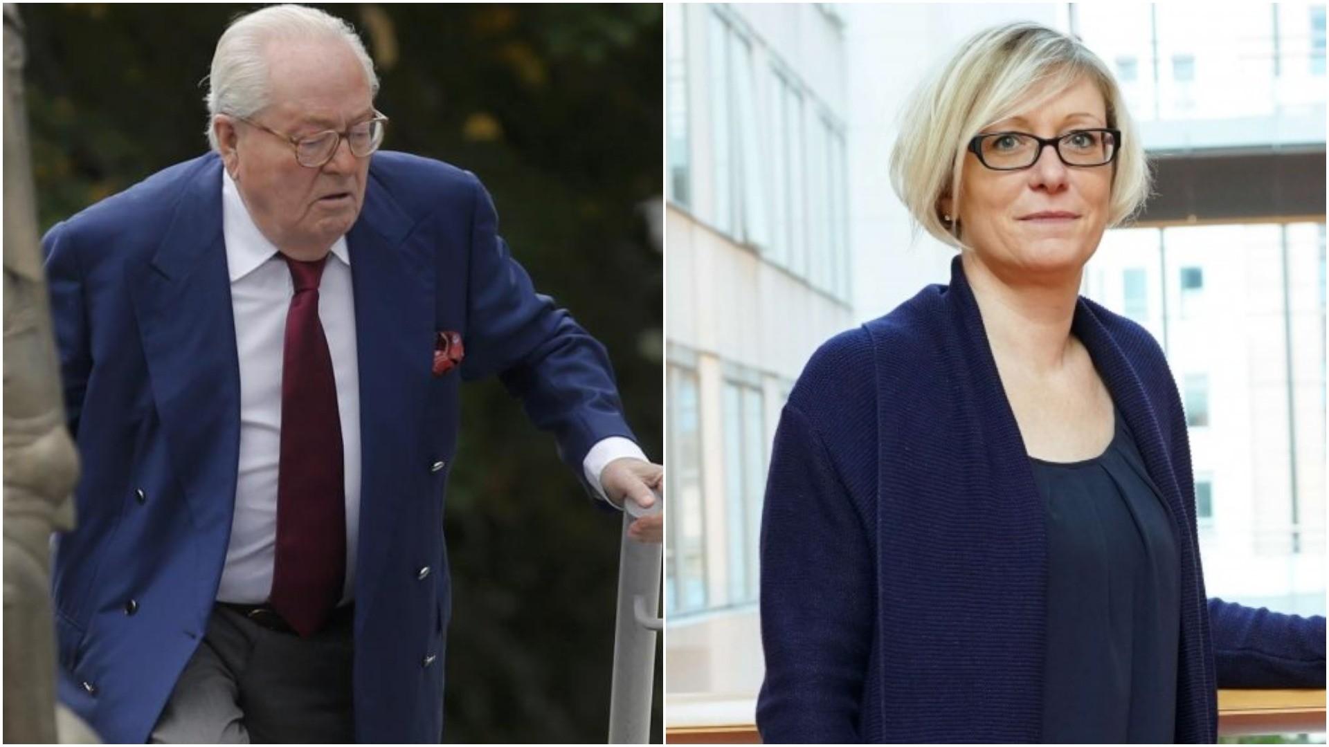 (L-R) Jean-Marie Le Pen and Mylu00e8ne Troszczynski.
