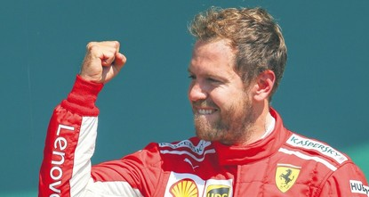 Silverstone success has Vettel and Ferrari roaring in F1 title hunt