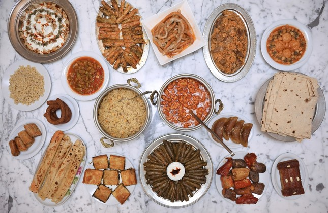 A variety of Adana dishes on display.