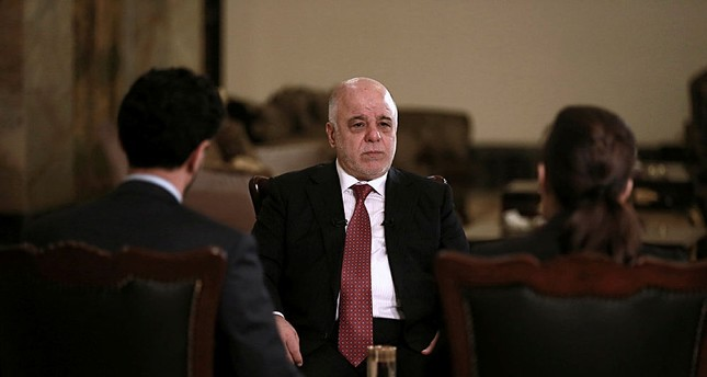 Iraq's Prime Minister Haider al-Abadi in an interview with The Associated Press in Baghdad, Iraq, Saturday, Sept. 16, 2017 (AP Photo)
