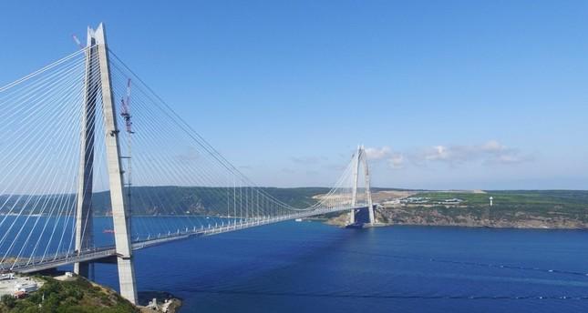 Istanbul's mega project Yavuz Sultan Selim Bridge to open in large ceremony