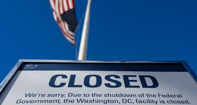 A sign is displayed on a government building that is closed because of a U.S. government shutdown, in Washington, D.C., Dec. 22.