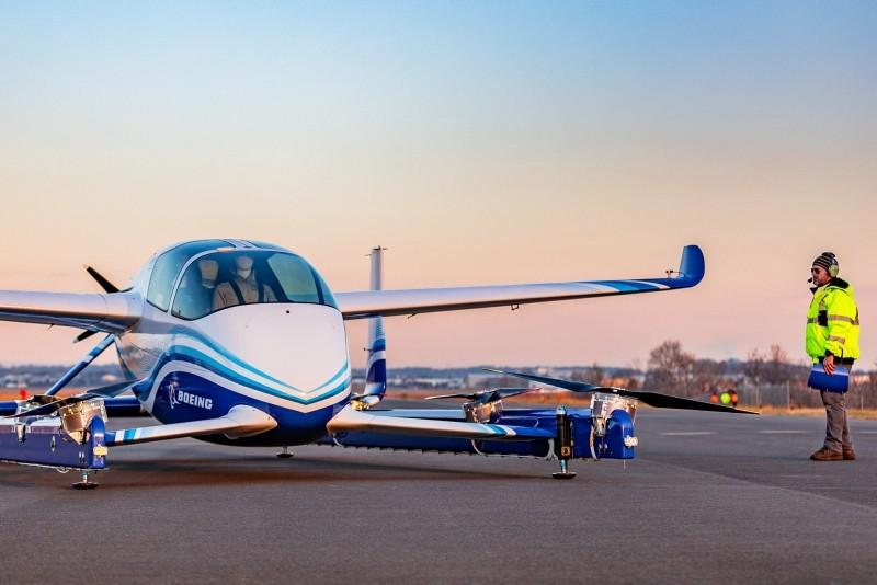 Boeing's Autonomous Passenger Air Vehicle (PAV) prototype is shown during an inaugural test flight, in Manassas, Virginia, U.S., January 22, 2019. (Reuters Photo)