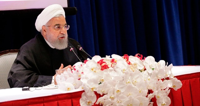 Iranian President Hassan Rouhani speaks during a press conference in New York on September 26, 2019. AFP Photo