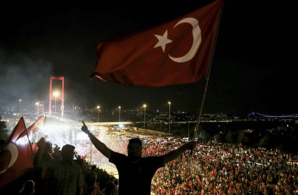 Thousands of people marched to the July 15 Martyrs Bridge u2013 then the Bosporus Bridge u2013 for democracy watches following the failed coup attempt last year.