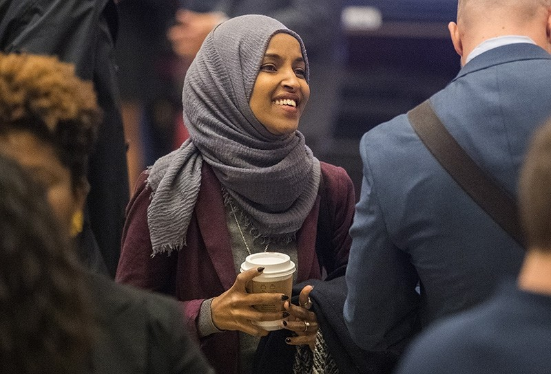 Incoming Democratic House of Representative member Ilhan Omar of Minnesota walks to new member orientation at the U.S. Capitol in Washington, D.C. Nov. 15, 2018. (EPA Photo)