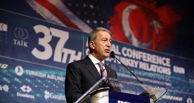 وزير الدفاع التركي متحدثاً في المؤتمر السنوي المشترك الـ37 لمجلس الأعمال التركي الأمريكي (TAİK)
