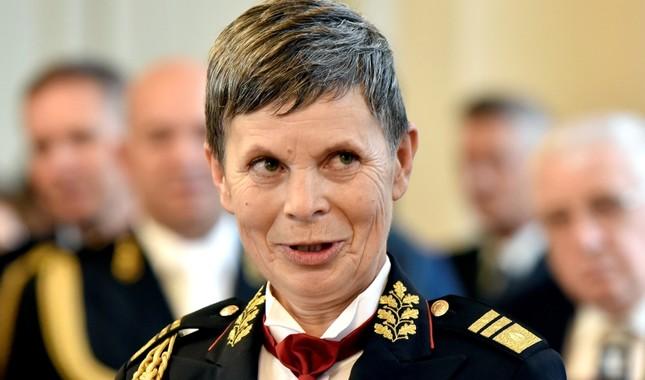 Major General Alenka Ermenc, newly appointed as chief of the Slovenian Army, looks on in Ljubljana, Slovenia, November 23, 2018. (Reuters Photo)